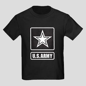 U.S. Army Star Logo [b/w] Kids Dark T-Shirt